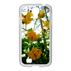 Yellow Flowers Samsung GALAXY S4 I9500/ I9505 Case (White)