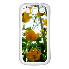 Yellow Flowers Samsung Galaxy S3 Back Case (white)