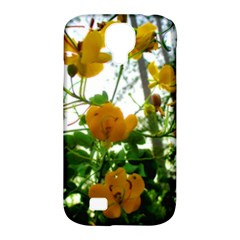 Yellow Flowers Samsung Galaxy S4 Classic Hardshell Case (pc+silicone)