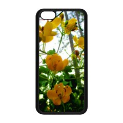 Yellow Flowers Apple iPhone 5C Seamless Case (Black)