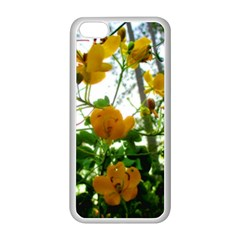 Yellow Flowers Apple Iphone 5c Seamless Case (white)