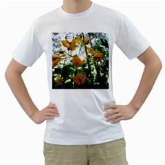 Yellow Flowers Men s T-Shirt (White)