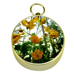 Yellow Flowers Gold Compass