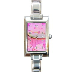 Cupcakes Covered In Sparkly Sugar Rectangular Italian Charm Watch