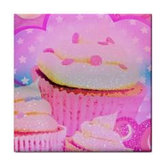 Cupcakes Covered In Sparkly Sugar Ceramic Tile
