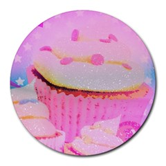 Cupcakes Covered In Sparkly Sugar 8  Mouse Pad (round)