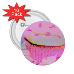 Cupcakes Covered In Sparkly Sugar 2 25  Button (10 Pack)