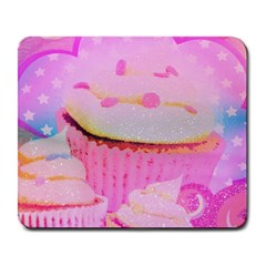 Cupcakes Covered In Sparkly Sugar Large Mouse Pad (rectangle)