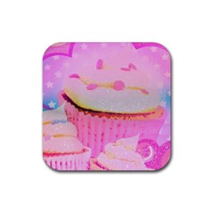 Cupcakes Covered In Sparkly Sugar Drink Coasters 4 Pack (square)