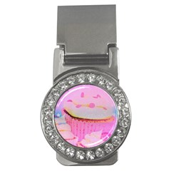 Cupcakes Covered In Sparkly Sugar Money Clip (CZ)