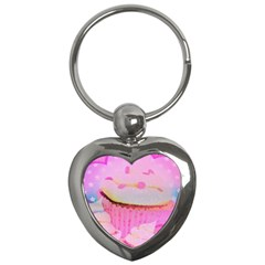 Cupcakes Covered In Sparkly Sugar Key Chain (heart)