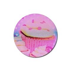 Cupcakes Covered In Sparkly Sugar Drink Coaster (Round)
