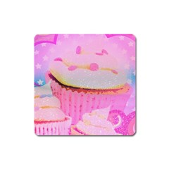 Cupcakes Covered In Sparkly Sugar Magnet (square)