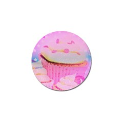 Cupcakes Covered In Sparkly Sugar Golf Ball Marker