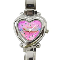 Cupcakes Covered In Sparkly Sugar Heart Italian Charm Watch