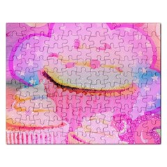 Cupcakes Covered In Sparkly Sugar Jigsaw Puzzle (Rectangle)
