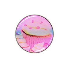 Cupcakes Covered In Sparkly Sugar Golf Ball Marker (for Hat Clip)
