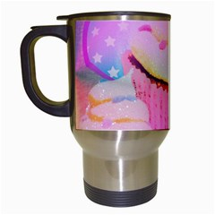 Cupcakes Covered In Sparkly Sugar Travel Mug (White)