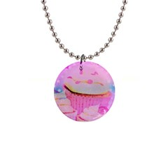 Cupcakes Covered In Sparkly Sugar Button Necklace