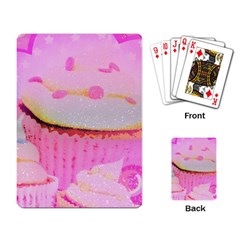 Cupcakes Covered In Sparkly Sugar Playing Cards Single Design