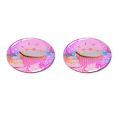 Cupcakes Covered In Sparkly Sugar Cufflinks (oval)