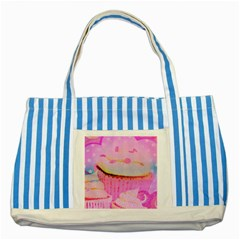 Cupcakes Covered In Sparkly Sugar Blue Striped Tote Bag