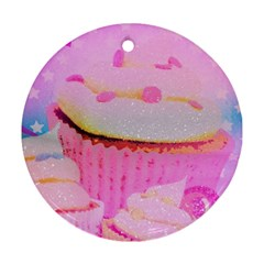 Cupcakes Covered In Sparkly Sugar Round Ornament (Two Sides)