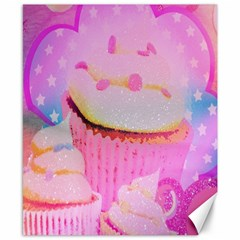 Cupcakes Covered In Sparkly Sugar Canvas 8  x 10  (Unframed)