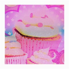 Cupcakes Covered In Sparkly Sugar Glasses Cloth (Medium, Two Sided)