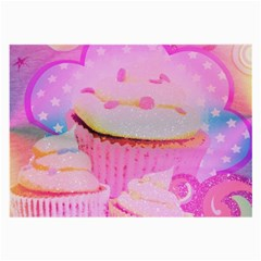 Cupcakes Covered In Sparkly Sugar Glasses Cloth (Large, Two Sided)