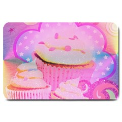 Cupcakes Covered In Sparkly Sugar Large Door Mat