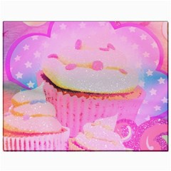 Cupcakes Covered In Sparkly Sugar Canvas 11  x 14  (Unframed)