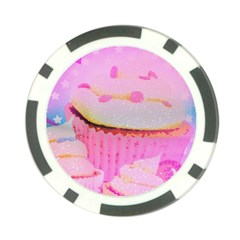 Cupcakes Covered In Sparkly Sugar Poker Chip