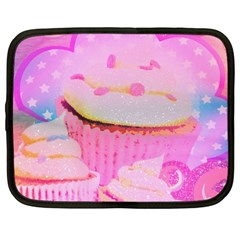 Cupcakes Covered In Sparkly Sugar Netbook Sleeve (large)