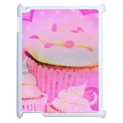 Cupcakes Covered In Sparkly Sugar Apple Ipad 2 Case (white)