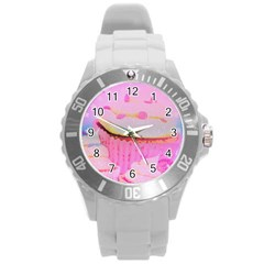 Cupcakes Covered In Sparkly Sugar Plastic Sport Watch (Large)