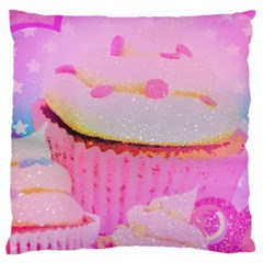 Cupcakes Covered In Sparkly Sugar Large Cushion Case (Two Sided)