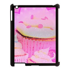 Cupcakes Covered In Sparkly Sugar Apple iPad 3/4 Case (Black)