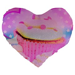 Cupcakes Covered In Sparkly Sugar 19  Premium Heart Shape Cushion