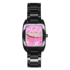 Cupcakes Covered In Sparkly Sugar Stainless Steel Barrel Watch