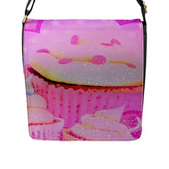 Cupcakes Covered In Sparkly Sugar Flap Closure Messenger Bag (Large)
