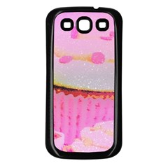 Cupcakes Covered In Sparkly Sugar Samsung Galaxy S3 Back Case (Black)