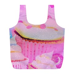 Cupcakes Covered In Sparkly Sugar Reusable Bag (l)