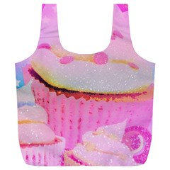 Cupcakes Covered In Sparkly Sugar Reusable Bag (XL)