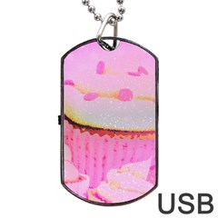 Cupcakes Covered In Sparkly Sugar Dog Tag Usb Flash (two Sides)