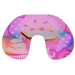 Cupcakes Covered in Sparkly Sugar Travel Neck Pillow