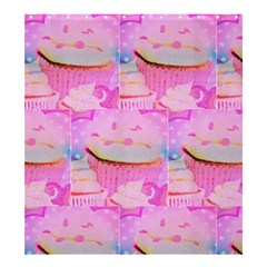 Cupcakes Covered in Sparkly Sugar Shower Curtain 66  x 72  (Large)
