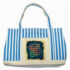 Led Zeppelin Symbols Blue Striped Tote Bag