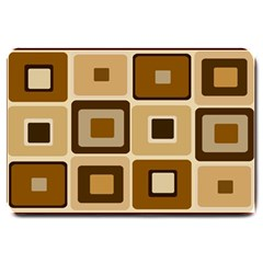 Retro Coffee Squares Large Door Mat