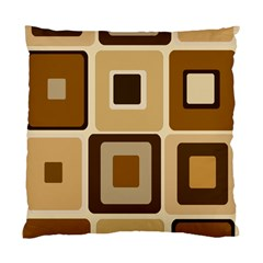 Retro Coffee Squares Cushion Case (Two Sided)